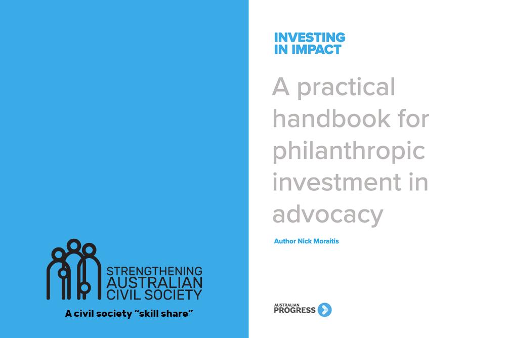 """Investing in Impact"" by Australian Progress"